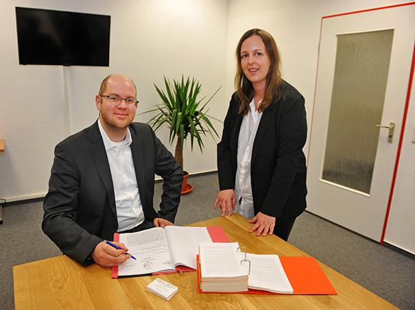 Besprechungsraum in der Zweigstelle Enger der Kanzlei Boss & Meyer Rechtsanwälte