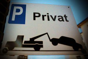 Falschparken auf Privatgrundstücken